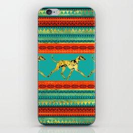 Azawakh Sighthound on African Patern iPhone Skin