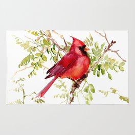 Northern Cardinal, cardinal bird lover gift Rug