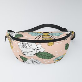 Bees on the flowers Fanny Pack