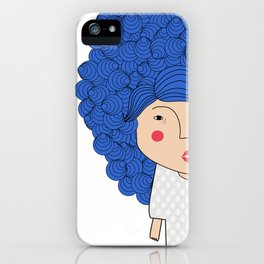 Mss Blue iPhone Case