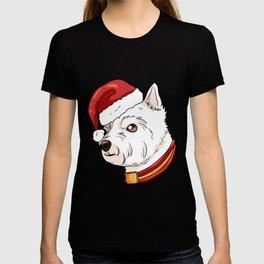West Highland White Terrier Dog Christmas Present T-shirt