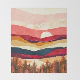 Scarlet Spring Throw Blanket