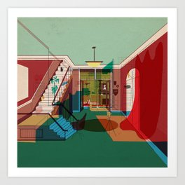 Room For Rent Art Print
