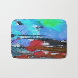 Art Abstraction 1D by Kathy Morton Stanion Bath Mat