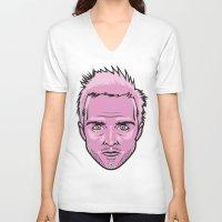 jesse pinkman V-neck T-shirts featuring Jesse Pinkman by Joshua Ariza