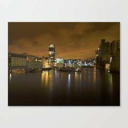 Reflections II - Grand Canal Dock Canvas Print