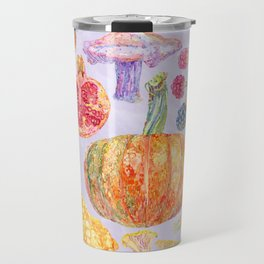 Seasonal Fruits - Lilac Travel Mug