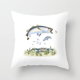 Speckled / Spotted Sea Trout  Throw Pillow
