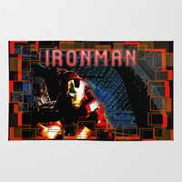 ironman Area & Throw Rugs featuring IronMan by André Joseph Martin
