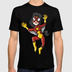 Spiderwoman Mens Fitted Tee Black X-LARGE
