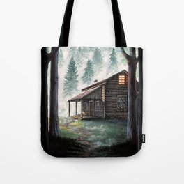 Cabin in the Pines Tote Bag