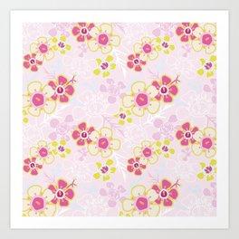 Sunkissed Pink Art Print