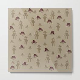 Little Sock Monkeys Metal Print
