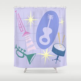 Django Jazz Composition In Purple Shower Curtain
