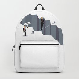 Teamwork Helps Overcome Obstacles Backpack