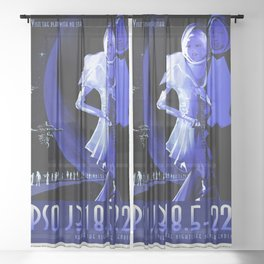 PSO J318.5-22 - NASA Space Travel Poster (Alt) Sheer Curtain