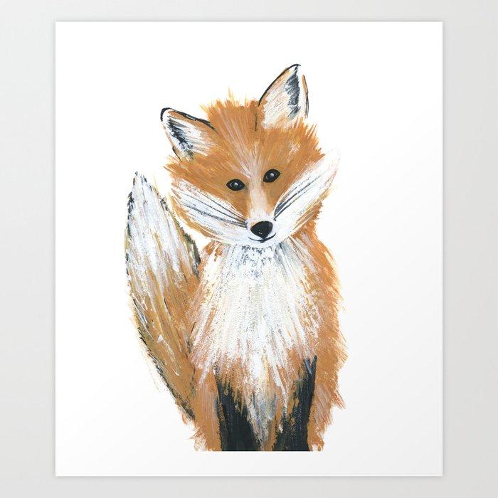 Fox on Snow Art Print
