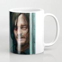 the walking dead Mugs featuring Dead Walking by ChrisHdzArt