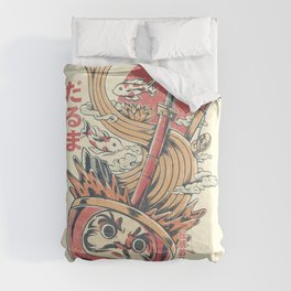 Daruma Ramen - White Comforters