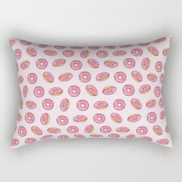 Strawberry Donuts on Pink Rectangular Pillow
