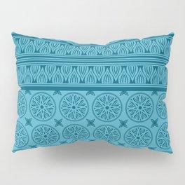 African Ethnic Tribal Blue Pattern Pillow Sham