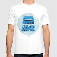 Rawr Returns! MEDIUM White Mens Fitted Tee