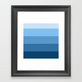 Ocean Tones Framed Art Print
