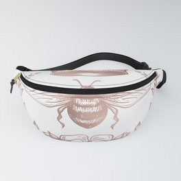 Queen Bee in Rose Gold Pink Fanny Pack