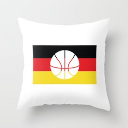 Germany Flag Soccer design with German Shield Throw Pillow