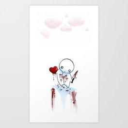 No Heart, No Pain. Art Print