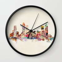 georgia Wall Clocks featuring Atlanta Georgia by bri.b