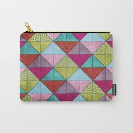 Colorful Seamless Rectangular Geometric Pattern V Carry-All Pouch