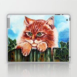 Cat on the fence Laptop & iPad Skin