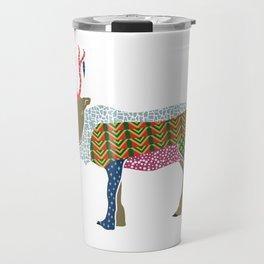 Abstract Reindeer Travel Mug