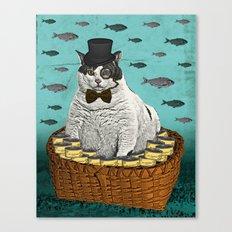 Fat Cat Print Canvas Print