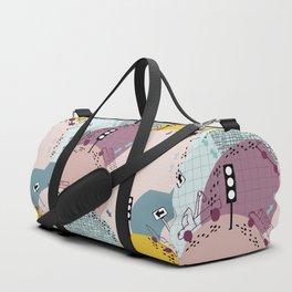Four wheels Pink #homedecor Duffle Bag