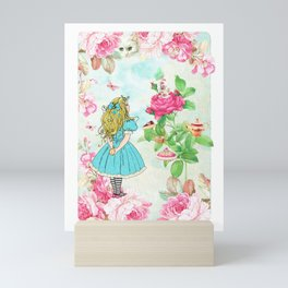 Alice in Wonderland tea party Mini Art Print