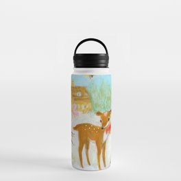 Fawn town Holidays Water Bottle