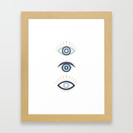 3 eyes on you Framed Art Print