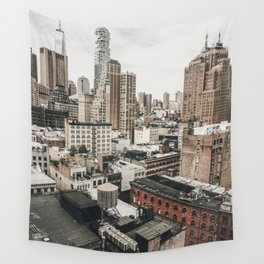 New York City View Wall Tapestry