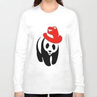 panda Long Sleeve T-shirts featuring Panda by ArtSchool