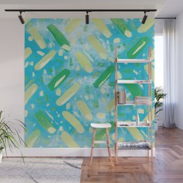 Festivities - Turquoise Wall Mural
