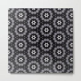 Pentacle and moon pattern Metal Print