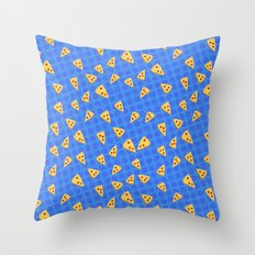 Pizza Slices Pattern Throw Pillow