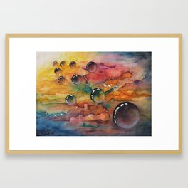 Kabbalah Sefirot Series:  Keter->Chochmah->Bina Framed Art Print