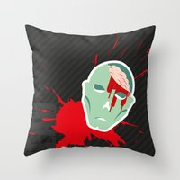 the walking dead Throw Pillows featuring dead walking by Tudisco
