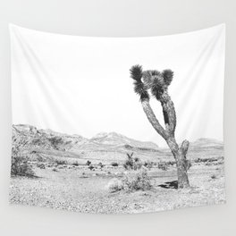 Vintage Desert Scape B&W // Cactus Nature Summer Sun Landscape Black and White Photography Wall Tapestry