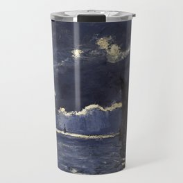 Claude Monet - A Seascape, Shipping by Moonlight Travel Mug