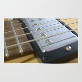 Guitar Close Up Yellow Rug