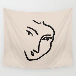Exhibition poster Henri Matisse-Nadia au menton pointu. 1948 Wall Tapestry
